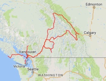 Our route - Canada 2015-2017