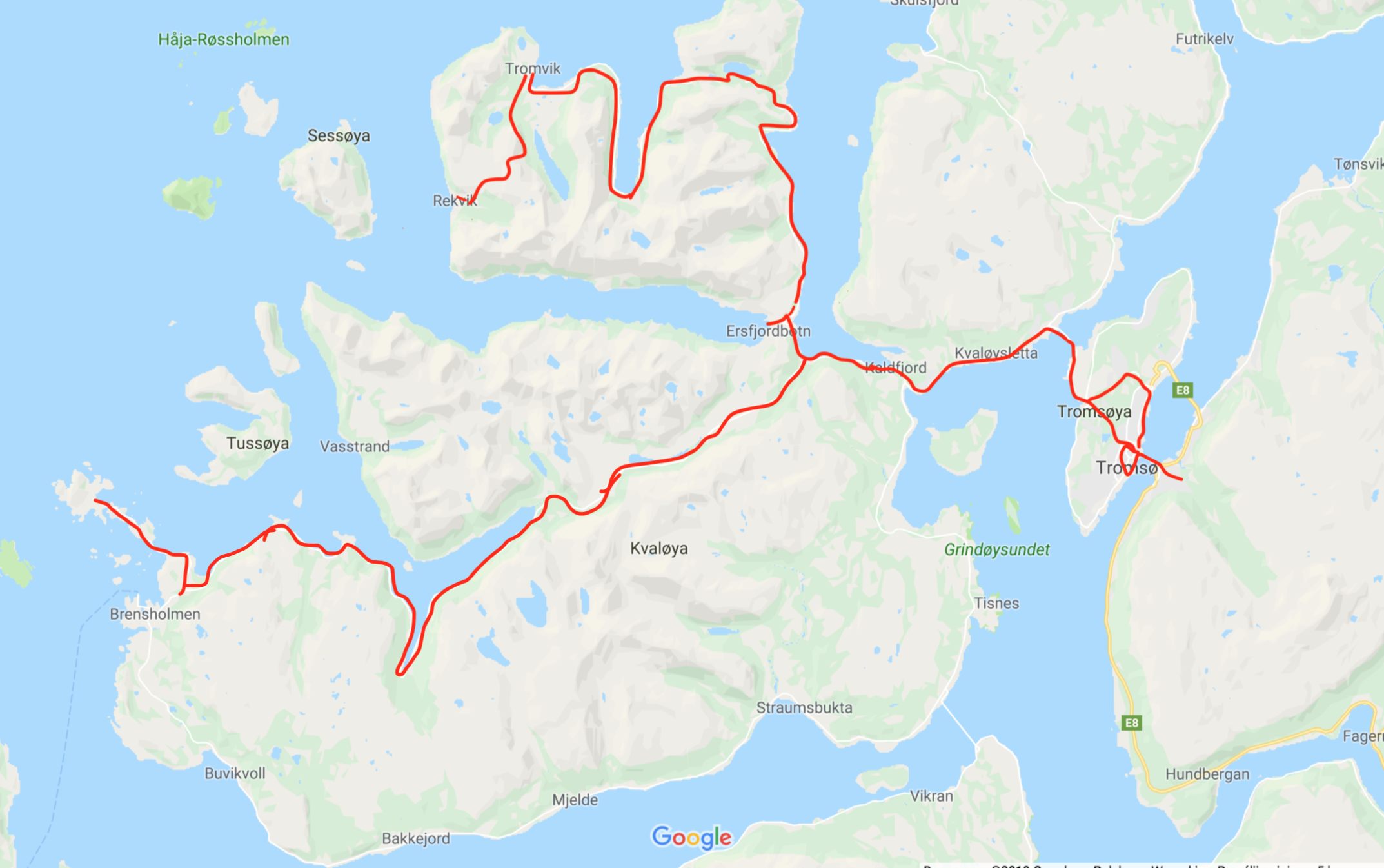 Norway, Tromso - map