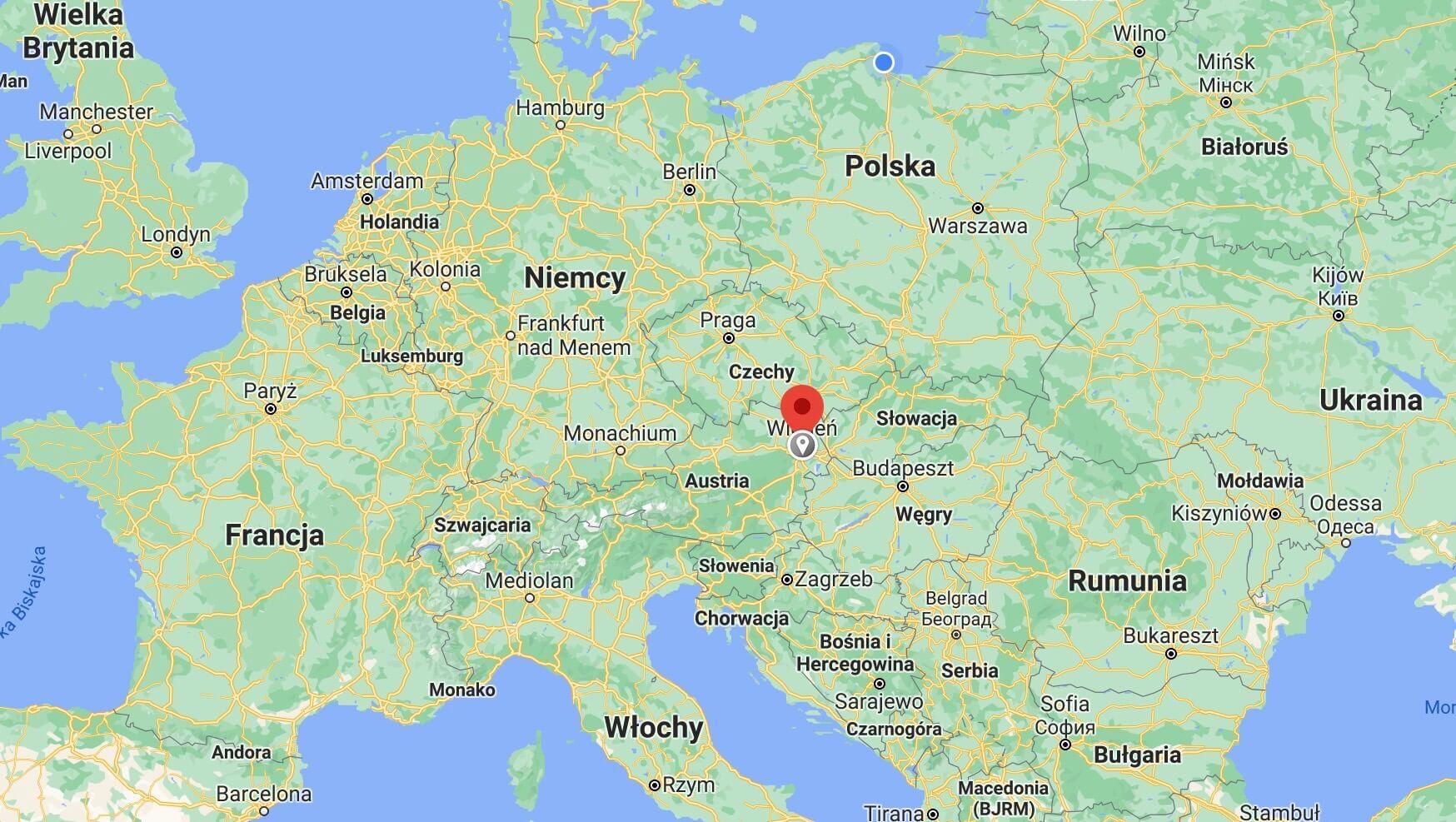 Vienna - map