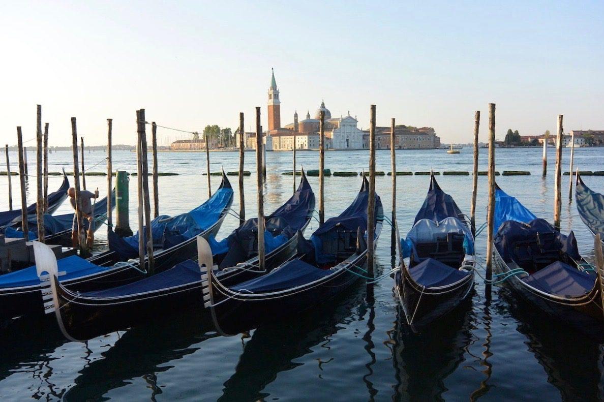 Italy, Venice - Gondolas