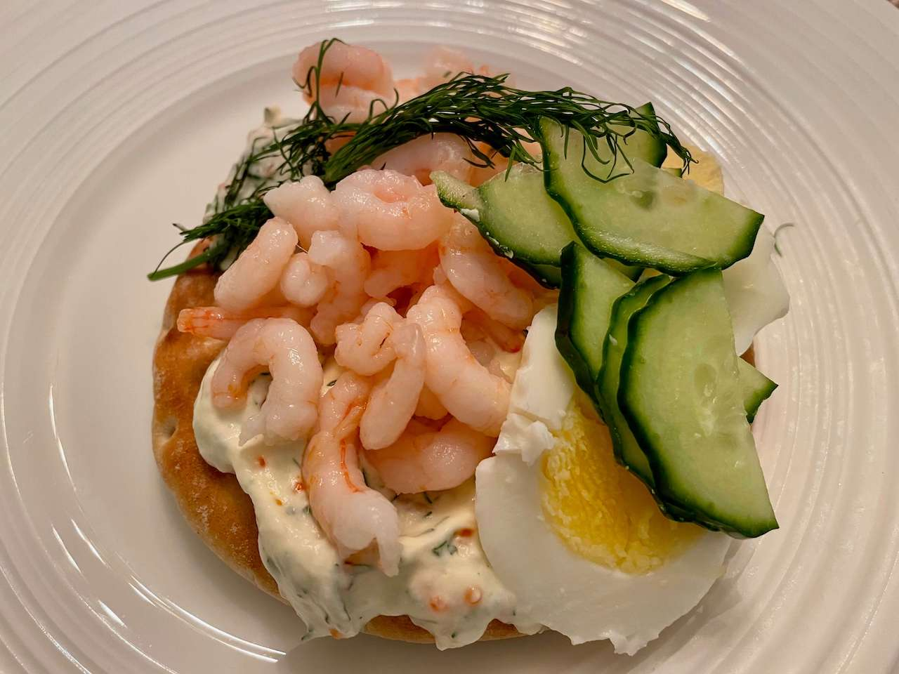Sweden - Räksmörgås, Swedish Prawn Sandwich