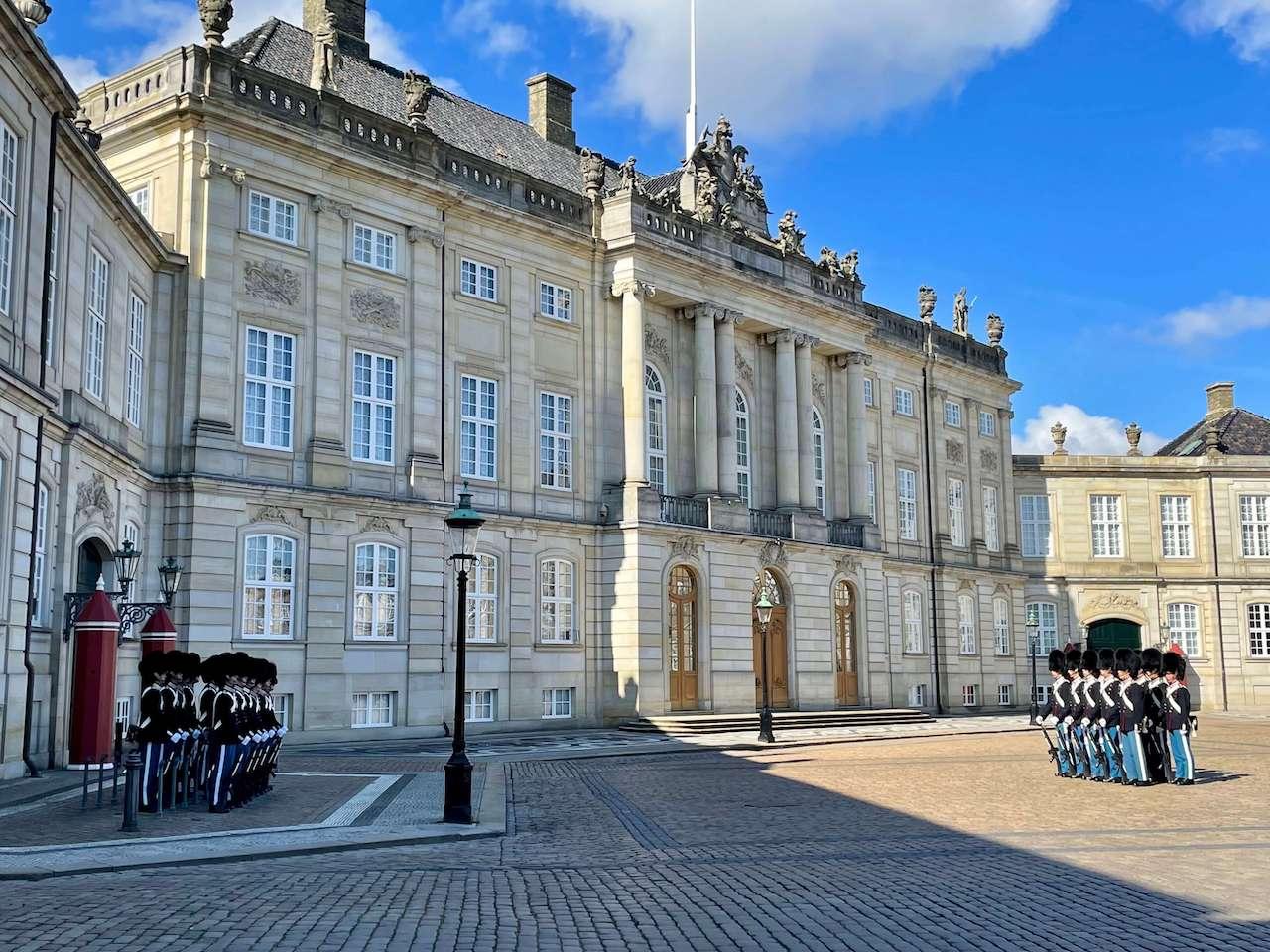 Denmark, Copenhagen - Changing the Guard Amalienborg Palace